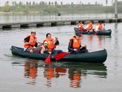 Canadese 3 persoons kano huren in ,